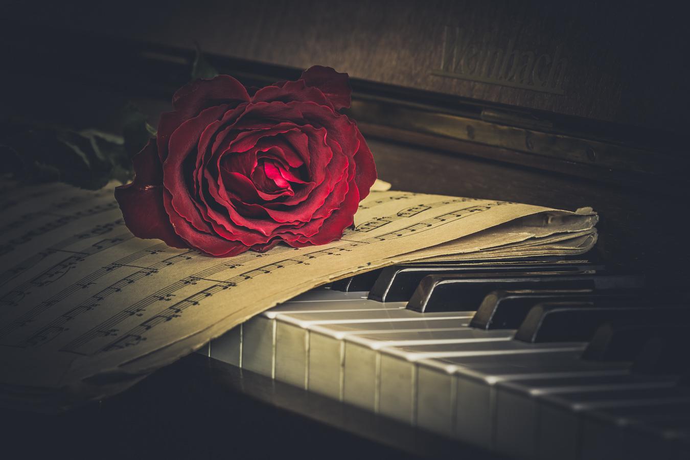 varpos ant pianino